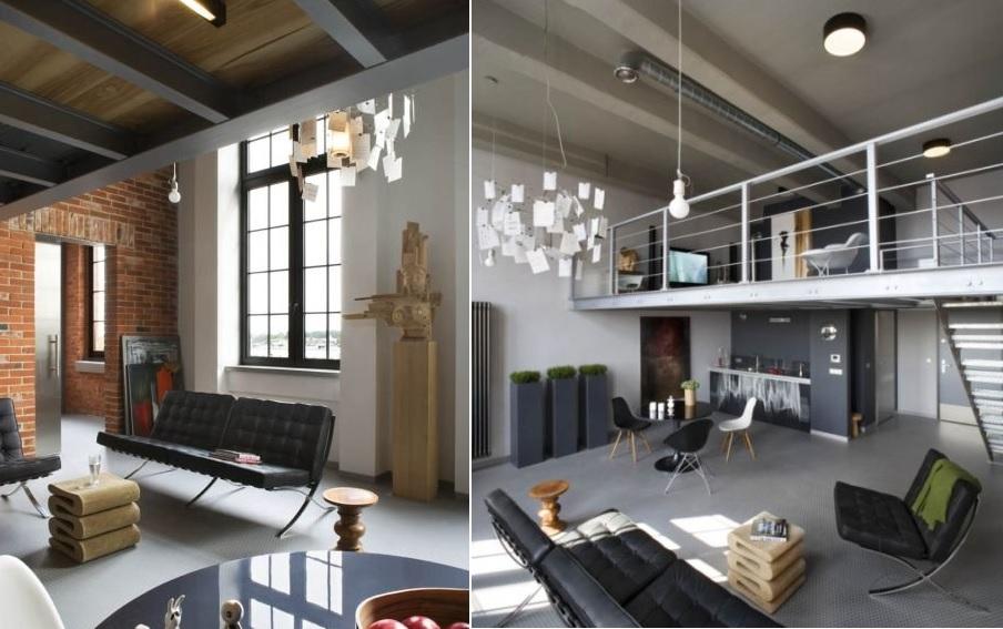 Lofty czyli mieszkanie na styl industrialny.